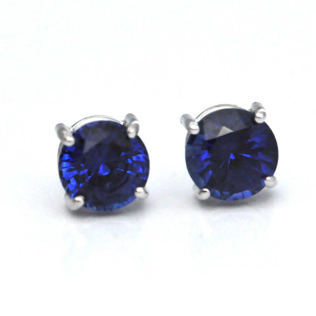 18K Blue Sapphire Stud Earrings - Westmount, Montreal, Quebec
