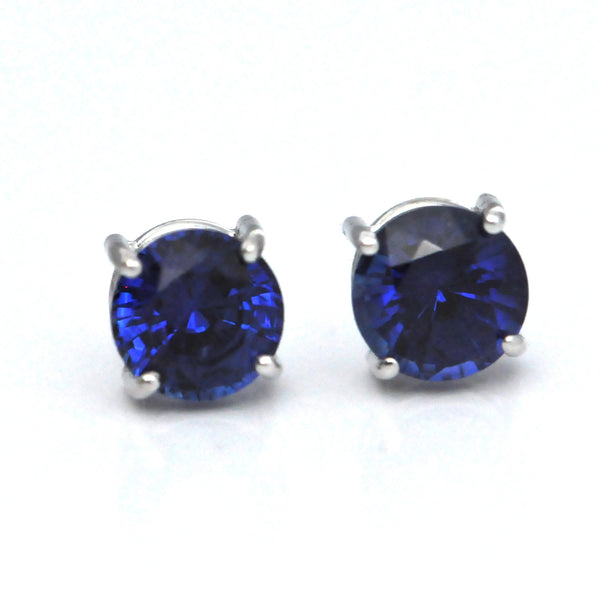 18K Blue Sapphire Stud Earrings (1.16ct) - Westmount, Montreal, Quebec
