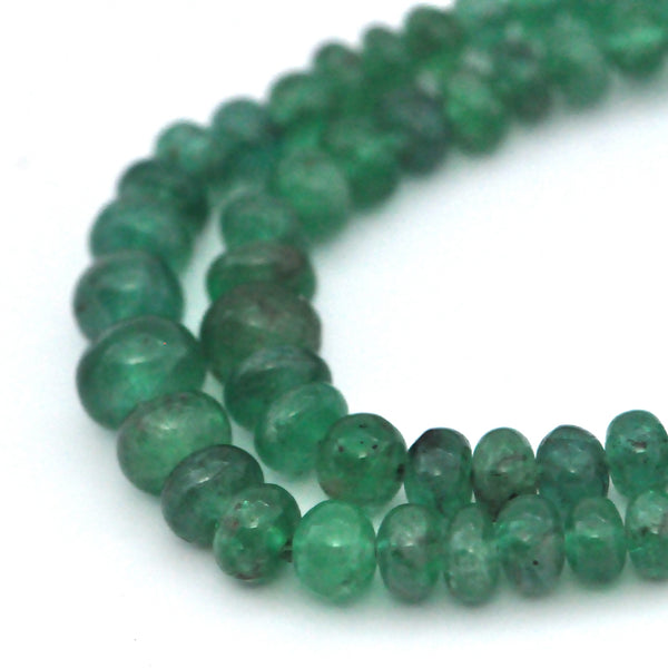 Graduated Emerald Rondelle Necklace