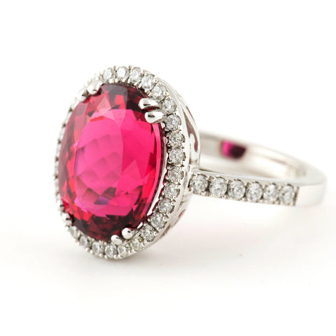 6.97 Carat Rubelite and Diamond Ring - Westmount, Montreal