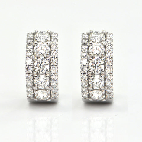 1.66ct diamond earrings, daisy exclusive, montreal estate jewellers