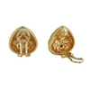 Vintage 18K Yellow Gold Clip On Earrings + Montreal Estate Jewelers
