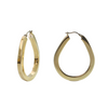 Vintage Italian 14K Yellow Gold Tear Drop Shaped Hoops + Montreal Estate Jewelers