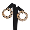 Vintage French Diamond and Onyx Circular Earring + Montreal Estate Jewelers