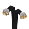 Estate Round High Domed Two-Toned Diamond Earrings + Montreal Estate Jewelers