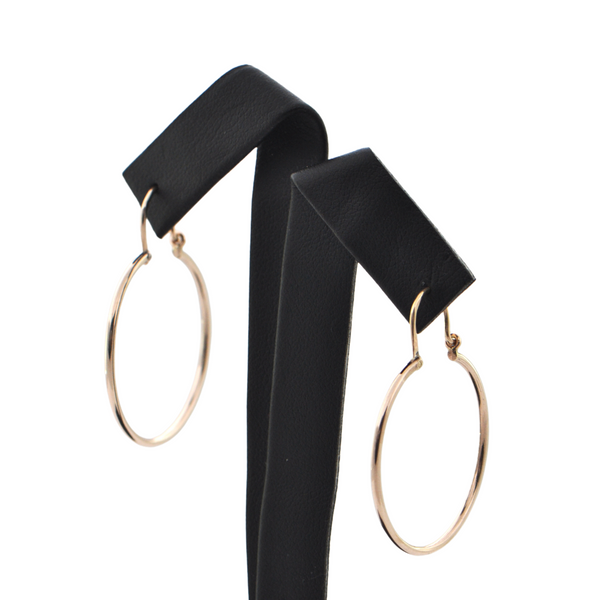 Vintage 14K Rose Gold Round-Shaped Hoop Earrings + Montreal Estate Jewelers