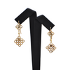 Vintage 18K Yellow Gold Dangle Earring + Montreal Estate Jewelers