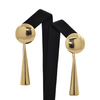 Mid-Century 18K Yellow Gold Drop Earring