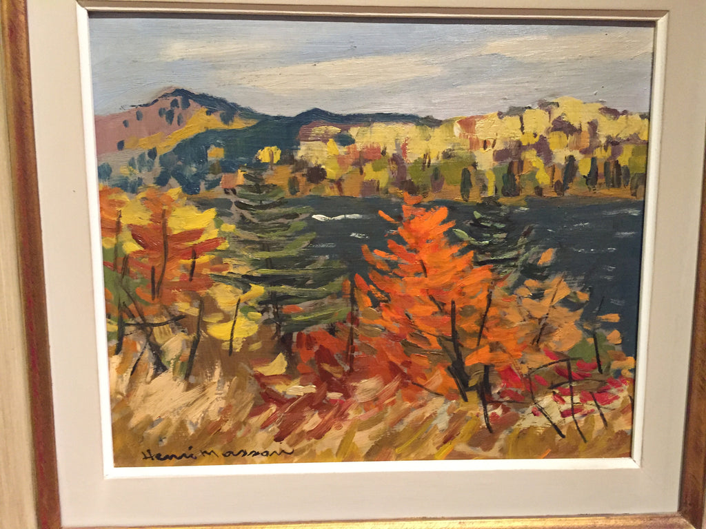 HENRI MASSON, CANADIAN ARTIST 1907-1996, Wakefield Lake, Qué - Westmount, Montreal - Daisy Exclusive