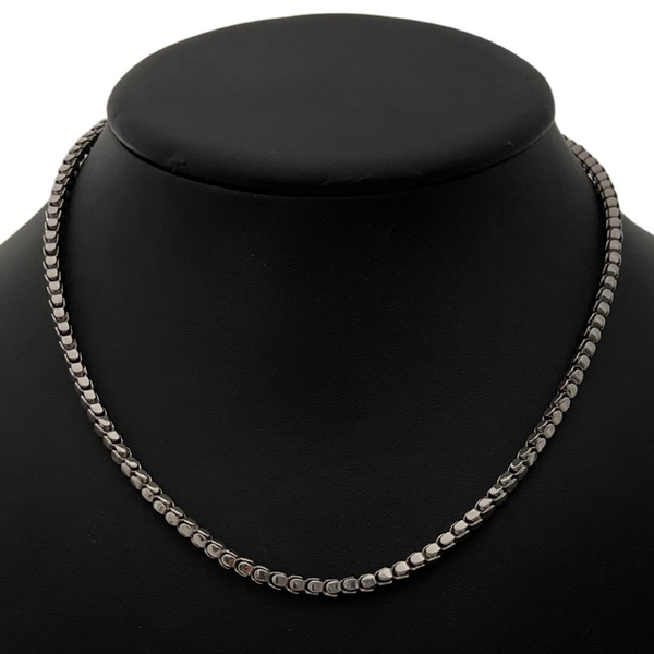 Estate Italian 18K White Gold Link Choker Necklace + Montreal Estate Jewelers