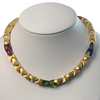 Marco Bicego 18K Yellow Gold and Tourmaline Necklace C.2000 + Montreal Estate Jewelers