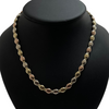 Vintage Italian Tri-Toned Oval Link Necklace + Montreal Estate Jewelers