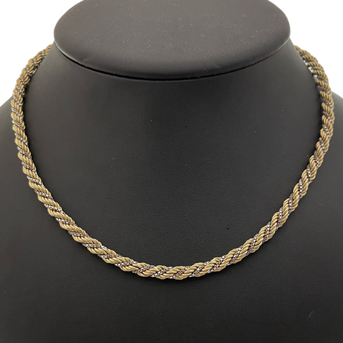 Vintage Italian Two-Toned 14K Gold Necklace + Montreal Estate Jewelers