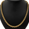 Vintage 18K Yellow Gold Rope Link Necklace (32 1/4