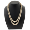 Mid-Century Angel Skin Coral Double Strand Necklace (C.1950) + Montreal Estate Jewelers