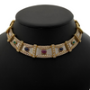 Precious Gem 18K Yellow and White Gold Collar Necklace