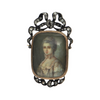 Antique Georgian Diamond-Set Portrait Miniature Brooch/Pendant + Montreal Estate Jewelers
