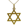 Vintage Italian 18K Yellow Gold Star of David Pendant + Montreal Estate Jewelers