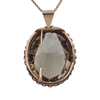 Retro 14k Rose Gold 98CT Smoky Quartz Pendant + Montreal Estate Jewelers