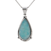 Daisy Exclusive Persian Turquoise 14K White Gold Pendant + Montreal Estate Jewelers