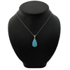Daisy Exclusive Persian Turquoise 14K White Gold Pendant