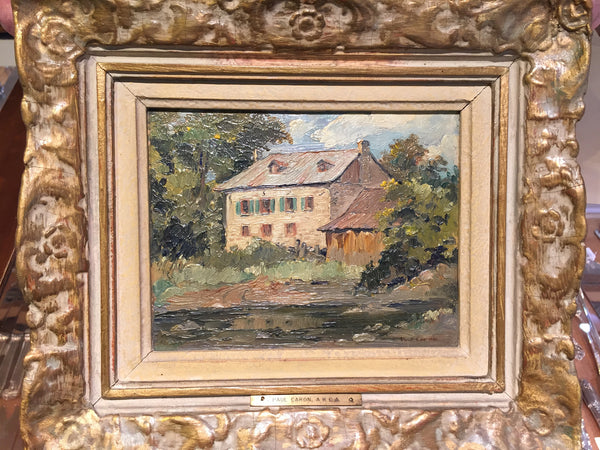 Paul Caron A.R.C.A (1874-1941) - 'Old Mill Ste Therèse' - Oil on Board - Westmount, Montreal - Daisy Exclusive