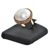 Vintage 14K Yellow Gold and Mabe Pearl Ring + Montreal Estate Jewelers