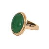 Vintage 14k Yellow Gold Jade Ring + Montreal Estate Jewelers