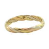 Vintage 18K Three Toned Twisted Gold Band + Montreal Estate Jewelers