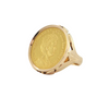 Vintage 1912 Dutch 21.6k Gold Coin 14k Yellow Gold Ring + Montreal Estate Jewelers