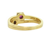 Vintage 18K Yellow Gold Ruby and Diamond Ring + Montreal Estate Jewelers