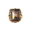 Vintage 16.3CT Smoky Quartz  18K Yellow Gold Ring + Montreal Estate Jewelers