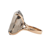 Retro 14K Rose Gold 40CT Smoky Quartz Ring + Montreal Estate Jewelers