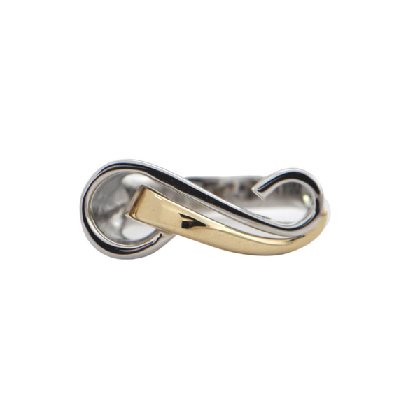 Contemporary 14k Two - Toned Infinity Symbol Ring