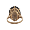 Vintage English 9K Yellow Gold 18ct Smokey Quartz + Montreal Estate Jewelers