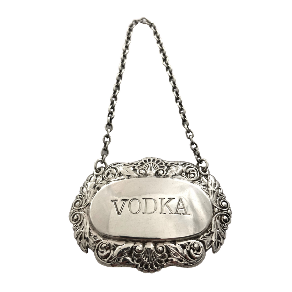 Vintage Birks Sterling Silver 'Vodka' Bottle  Tag + Montreal Estate Jewelers