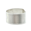 Guilloché Sterling Napkin Ring, Suckling LTD.  C.1948 England + Montreal Estate Jewelers