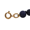 Vintage 18K Yellow Gold and Lapis Lazuli Bead Drop Necklace