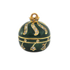 Antique French Green Enamel 18K Yellow Gold Ball Watch on Necklace C.1860-1880 + Montreal Estate Jewelers