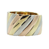 Italian 18K Yellow, White, and Rose Gold Hinged Cuff + Montreal Estate Jewelers