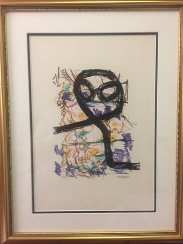 Jean-Paul Riopelle, Parler de Corde, ''Hibou'' 1972 - Signed Lithograph - Montreal Estate Jewellers