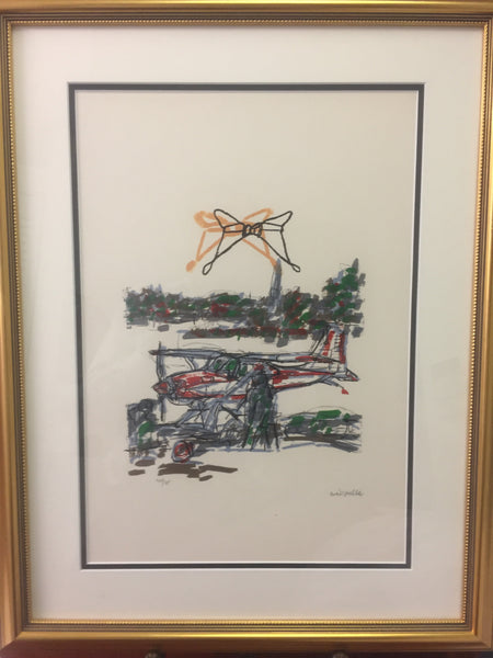 Jean-Paul Riopelle, Parler de Corde, 'Avion à Flotteurs' 1972 - Signed Lithograph - montreal estate jewellers