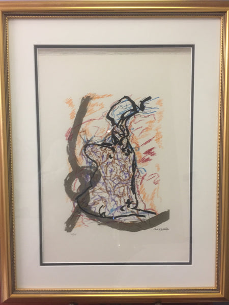 Jean-Paul Riopelle, Parler de Corde, '' Teddy '' 1972 - Signed Lithograph - montreal estate jewellers
