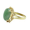 Vintage Jade 14K Yellow Gold Ring + Montreal Estate Jewelers