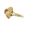Retro Ruby 18K Yellow Gold Ring C.1950 + Montreal Estate Jewelers