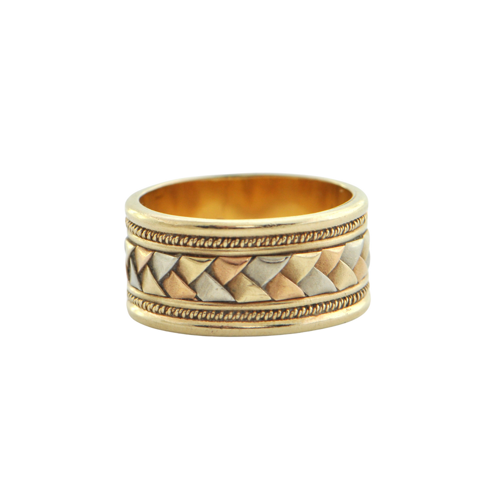 14K Tri-Colored Gold Ring + Montreal Estate Jewelers
