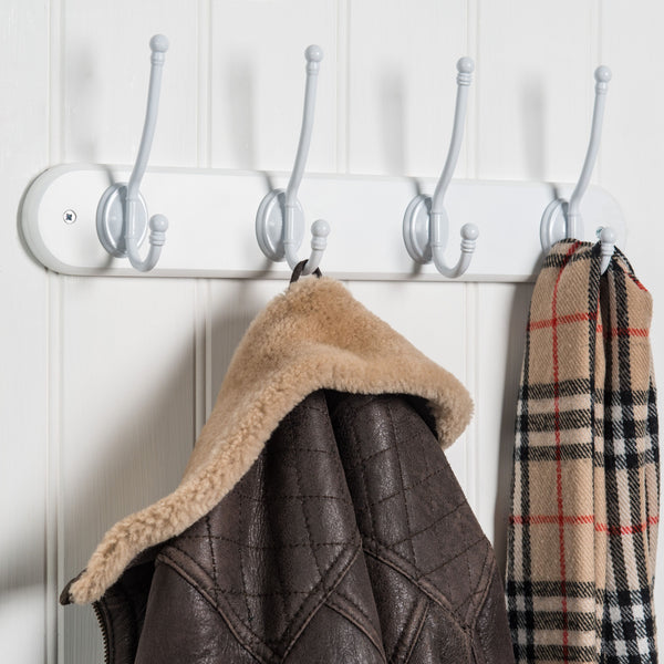 Riveaux Hat & Coat Hook Rack In Paris White™