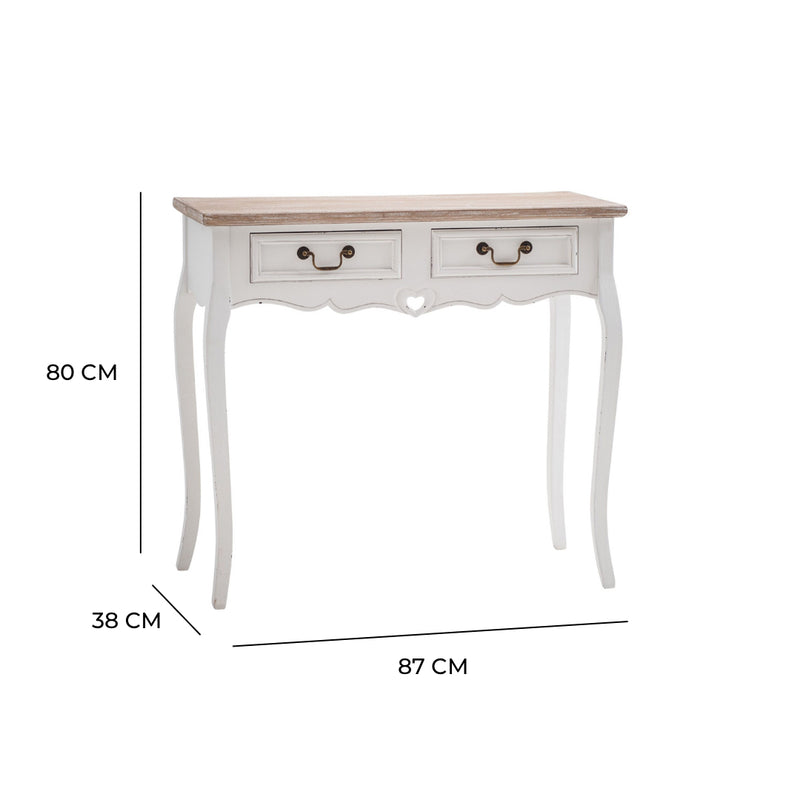 Vermont Shabby Chic 2 Drawer Console Table