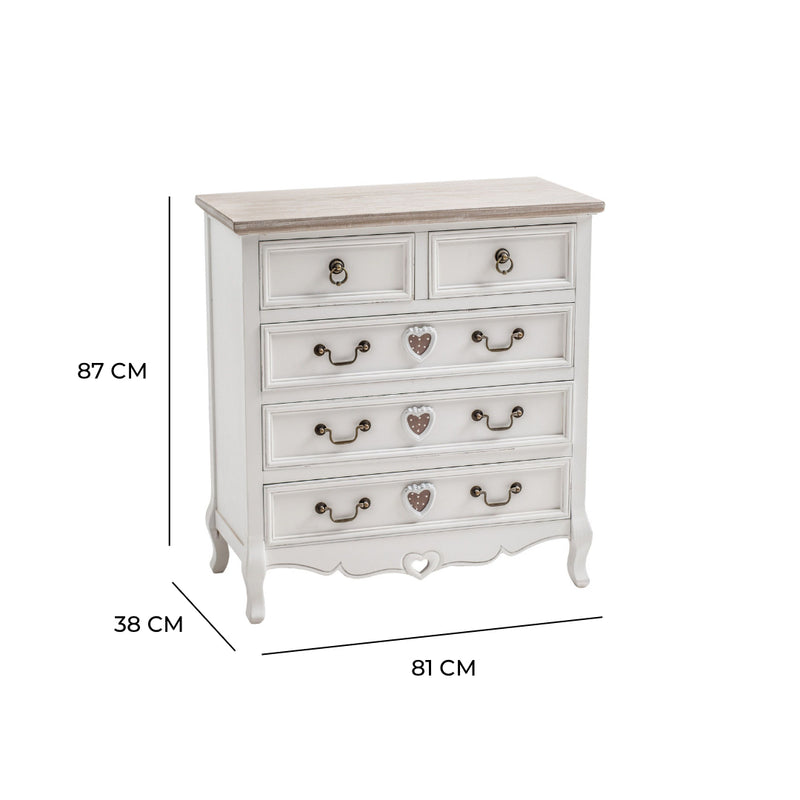 Vermont Shabby Chic 2 Over 3 Chest Of Drawers