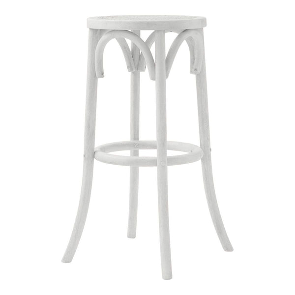 Aubignan Backless Breakfast Bar Stool In Old White